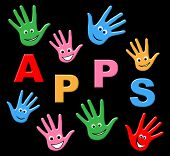 pic of youngster  - Kids Apps Representing Application Software And Youngsters - JPG