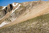 picture of beartooth  - View of a mountainside along the Beartooth Highway - JPG