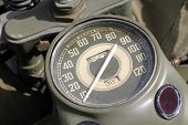 picture of khakis  - Old green khaki army American motorcycle meter - JPG