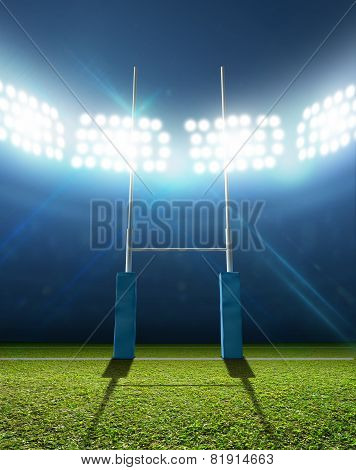 Rugby Stadium And Posts