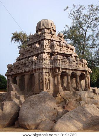 Dharmaraja Ratha Chariot Mahabalipuram,India