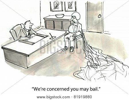 Bail from Company