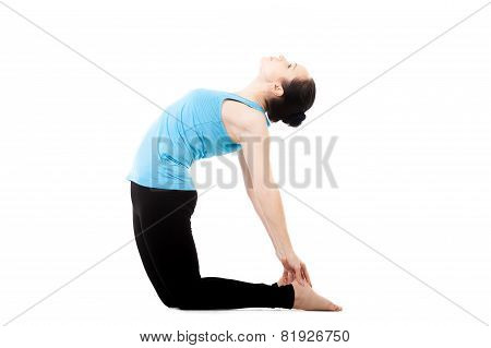 Yogi Female In Yoga Asana Ustrasana