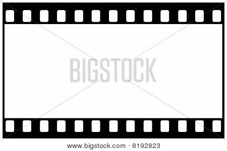 Blank film frame for wide image