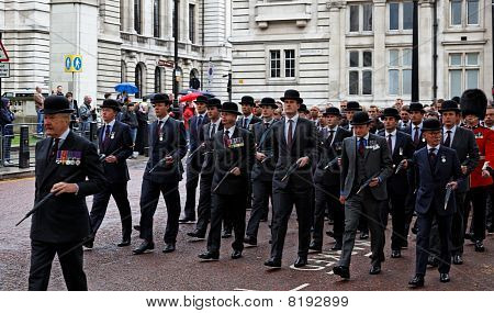Veterans Parade. London. Uk.