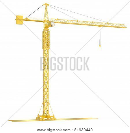 Yellow tower crane