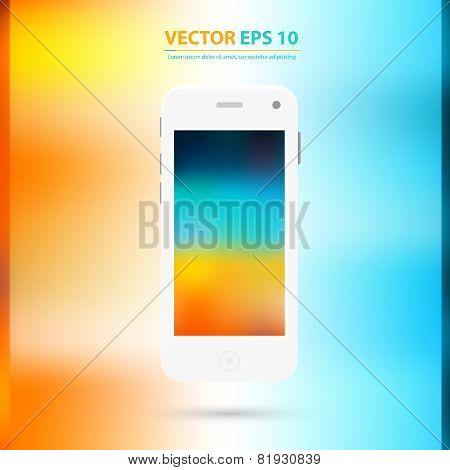 Vector Modern touchscreen cellphone icon.