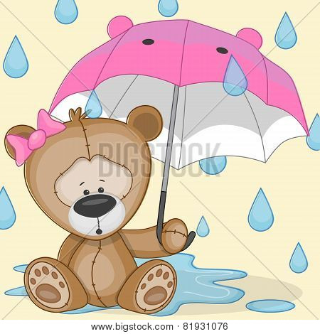 Bear Girl With Umbrella