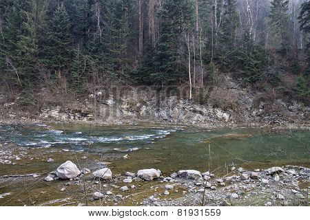 Prut river in the Carpathians
