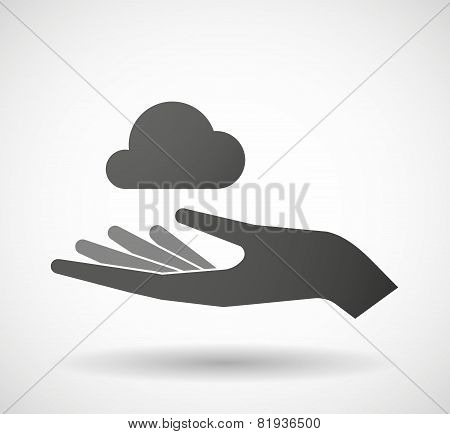 Hand Giving A Cloud