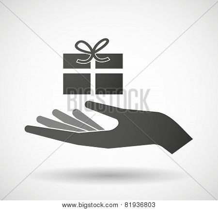 Hand Giving A Present