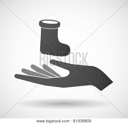 Hand Giving A Christmas Sock