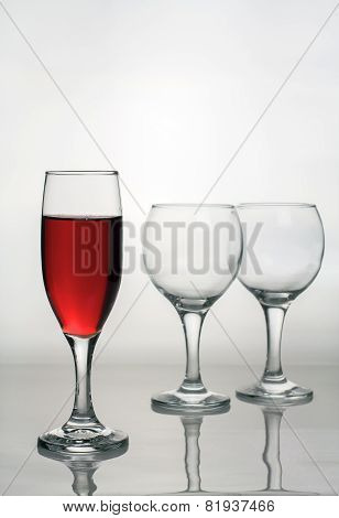Wine Glass Of Red Wine.