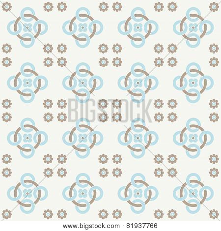 Blue Seamless Pattern. Design For Dutch Tile, Textile, Cloth, Fabric, Tissue