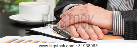 Businessman During Business Meeting