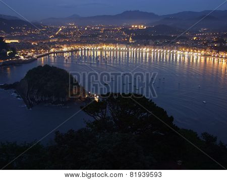 San Sebastian- Donostia at night