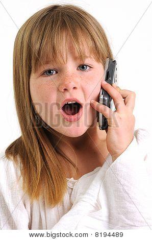 beautifull brunette girl talking on a mobile phone
