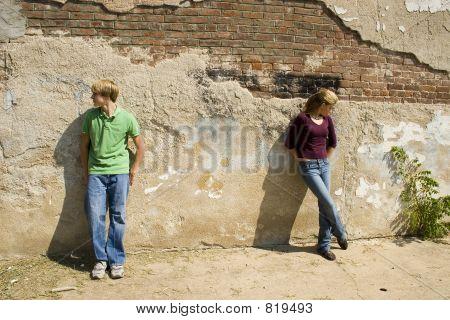 Angry Teen Couple