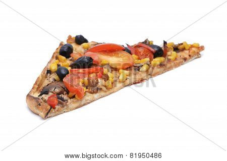 Pizza With Cheese, Olives, Tomatoes