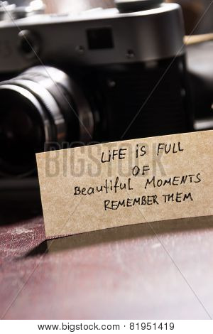 Life Is Full Of Beautiful Moments - Remember Them
