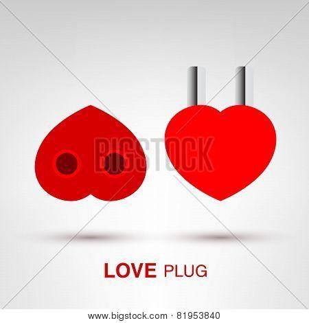 Valentine's Day creative concept - Love Plug