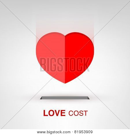 Valentine's Day creative concept - Love Cost