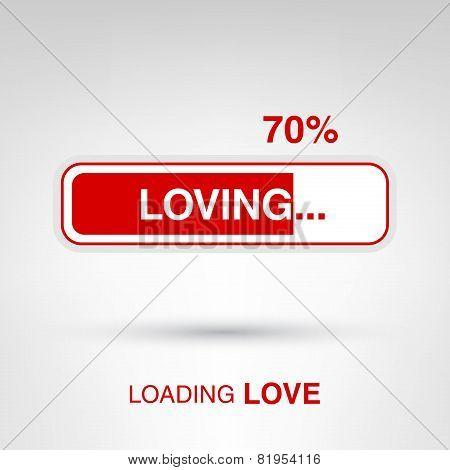 Valentine's Day creative concept - loading love