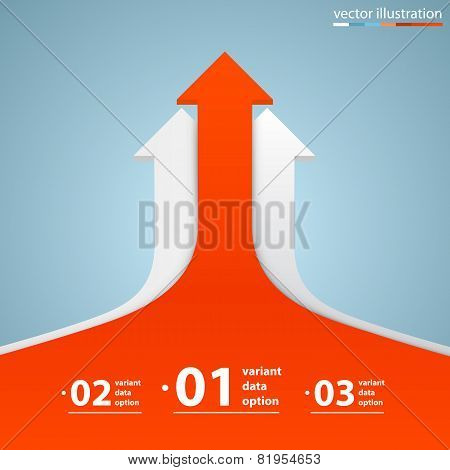 Arrows business growth. Vector