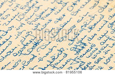 Fragment Of An Old Handwritten Letter, Written In German. Can Be Used For Background
