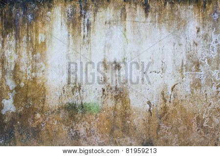 Red Brown Grunge Wall, With White Space On The Middle