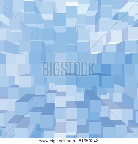 Bright Abstract Geometric Square 3D Diagram Bar Bricks Pattern, Vertical Perspective Wallpaper