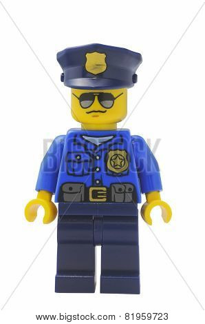 Policeman Lego City Minifigure