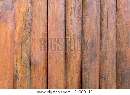 Wooden Planks Wall For Background.