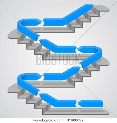 Career path stairs