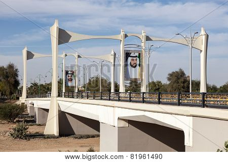 Bridge With Sheikh Portraits, Al Ain, UAE