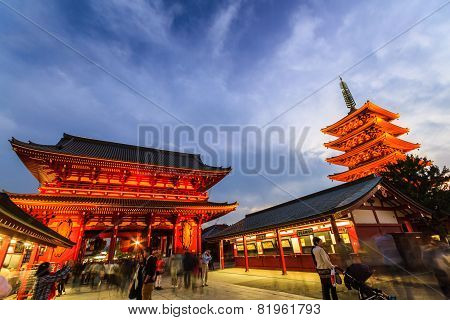 Sensoji, Also Known As Asakusa Kannon Temple .