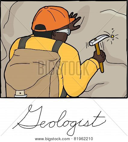 Geologist In Frame
