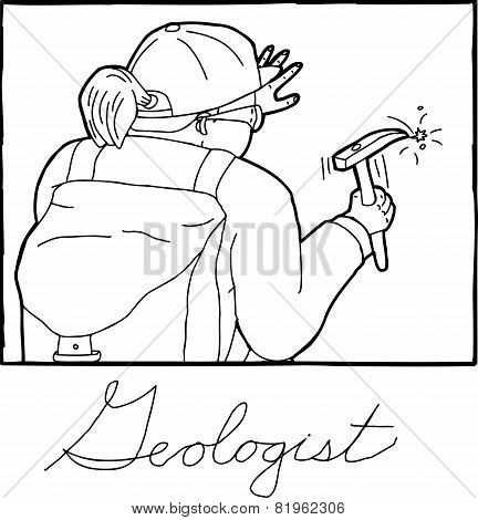 Outline Of Female Geolgist