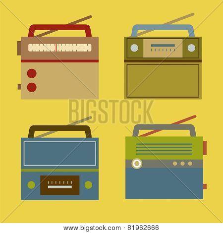 Flat Design Vintage Radio.