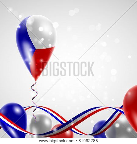 Flag of the Czech Republic on balloon