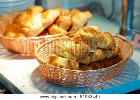 Croissant In Basket