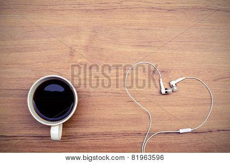 Coffee And Headphone