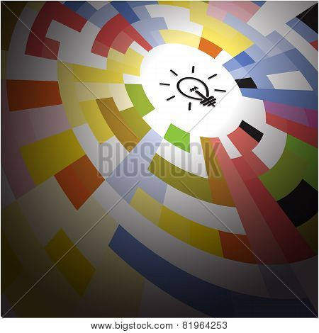 Creative Circle Abstract Vector Logo Design Background.