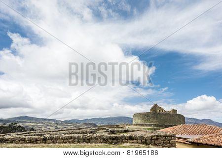 Ingapirca Inca Ruins In Ecuador.