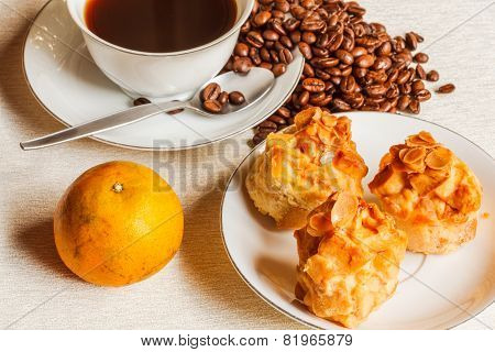Scone Bread With Coffee