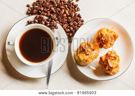 Scone Bread And A Cup Of Coffee