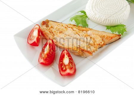 Grilled Salmon And Tomatoes