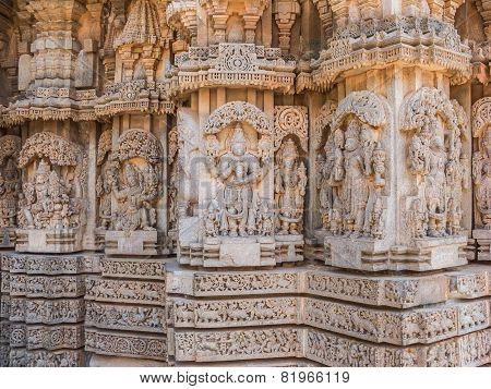 Carvings at Somanathapur