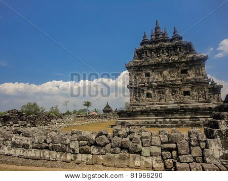 Plaosan Temples At Java, Indonesia