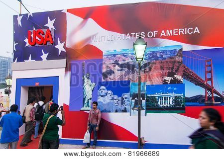 Usa Book Stall At Kolkata International Book Fair - 2015.